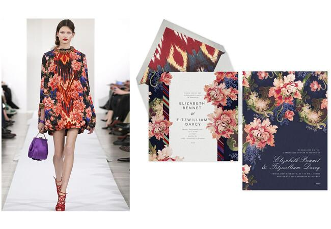 Fashion Inspired Invitations From Oscar de la Renta and Paperless Post!