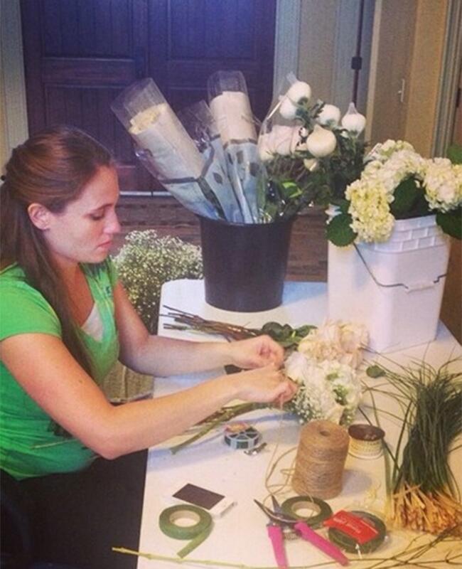 Jill Duggar Wedding Flowers: Fundie Families / TheKnot.com