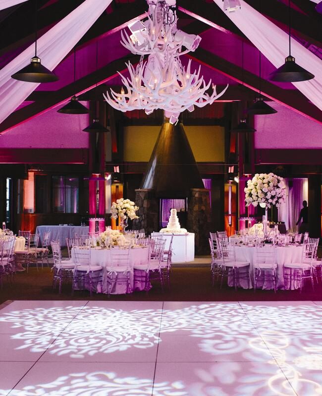 chandelier wedding decor is a bright wedding trend. Black Bedroom Furniture Sets. Home Design Ideas