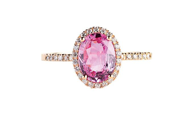 pink sapphire/Suzanne Kalan/the Knot blog