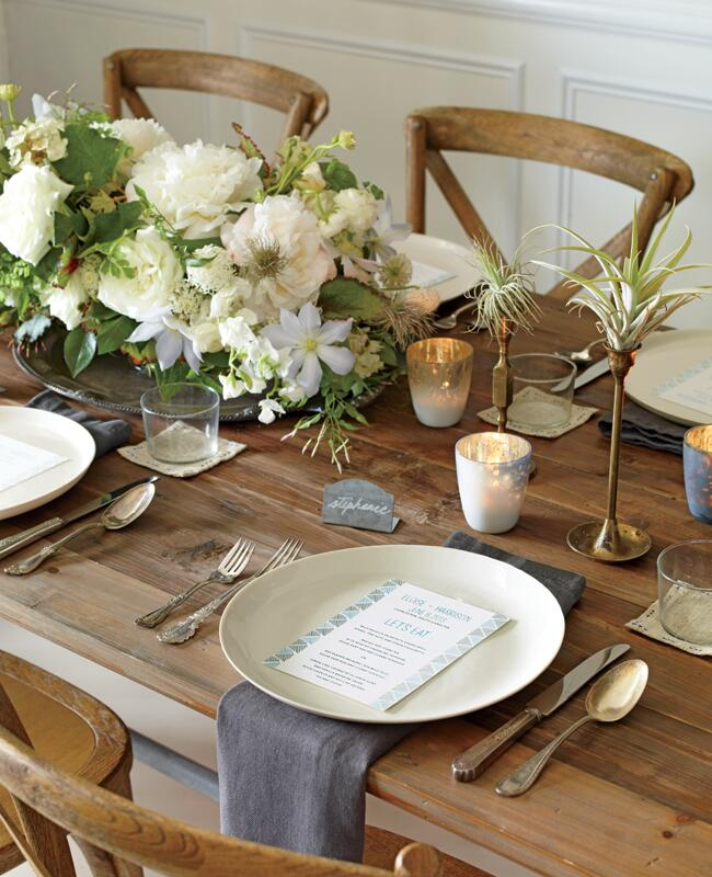 Rustic wedding reception table decor | Philip Ficks | blog.theknot.com