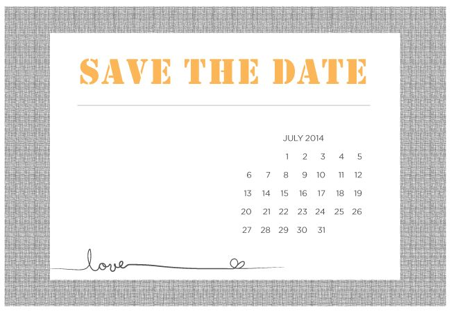 4 Printable DIY Save-The-Date Templates