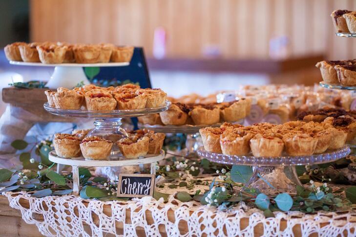 Mini wedding dessert pies