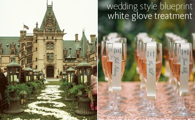 Formal weddings are making a comeback white glove comeback blueprint blogeknot malvernweather Image collections