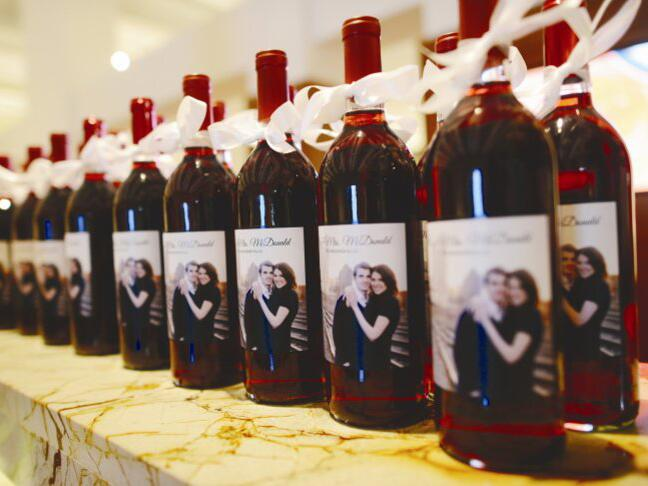 Personalized wine bottles