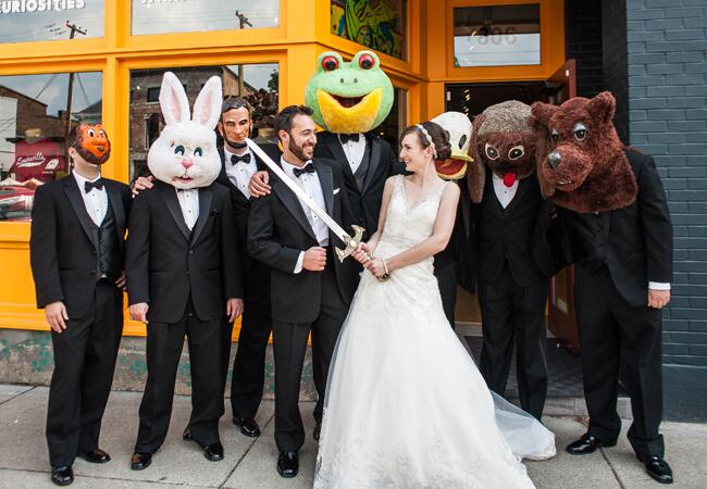Bunny wedding inspiration: Adam Padgett Weddings / TheKnot.com
