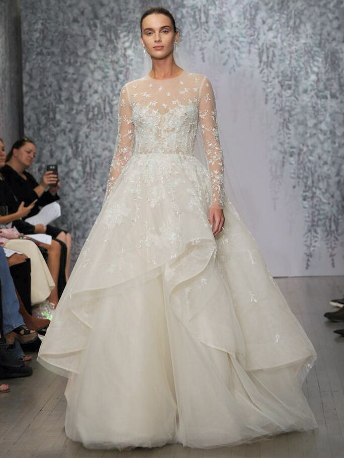 f231420c073 Monique Lhuillier Fall 2016 Collection ultra-feminine wedding dresses  inspired by a romantic and opulent