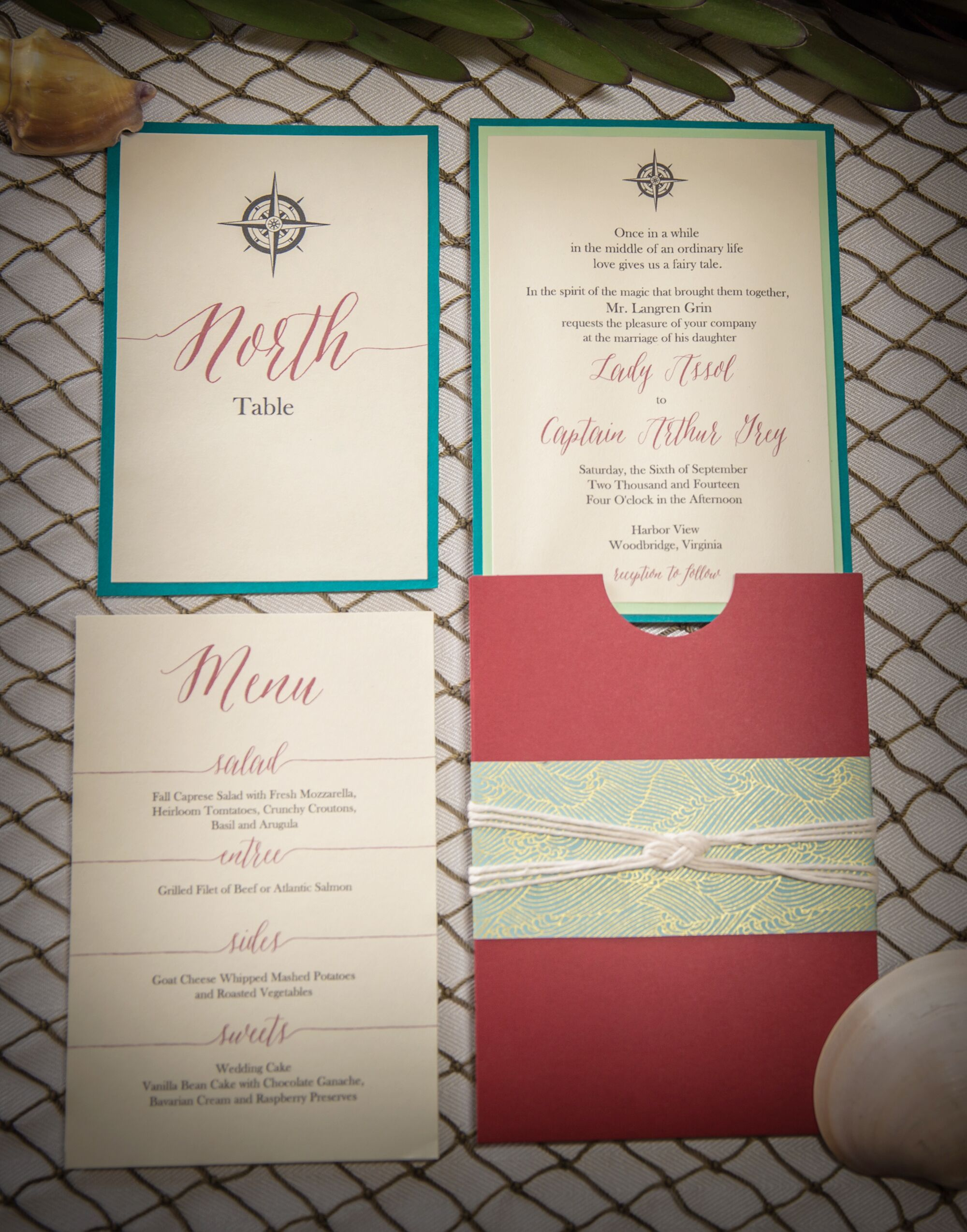 A Nautical Inspiration Shoot With Scarlet Details