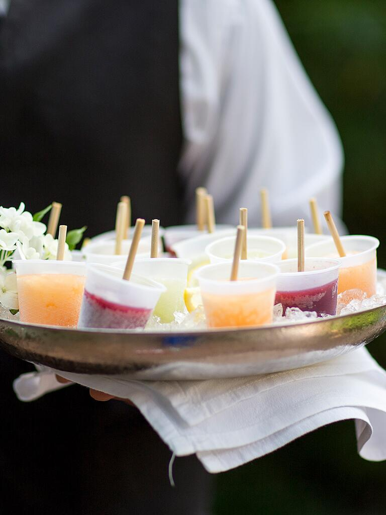 mini popsicle cocktail appetizer