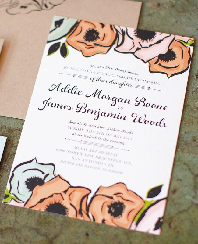 Graphic Anemone Invitations |<img class=