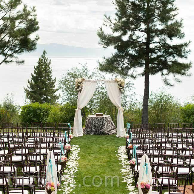 Wedding Altar Groomsmen: A Vibrant Rustic Wedding In Lake Tahoe, CA