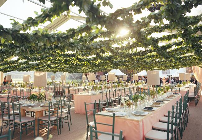 Garland wedding decor:  data-verified=