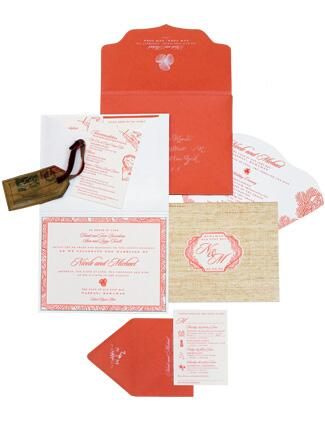 Orange Invitation Suite