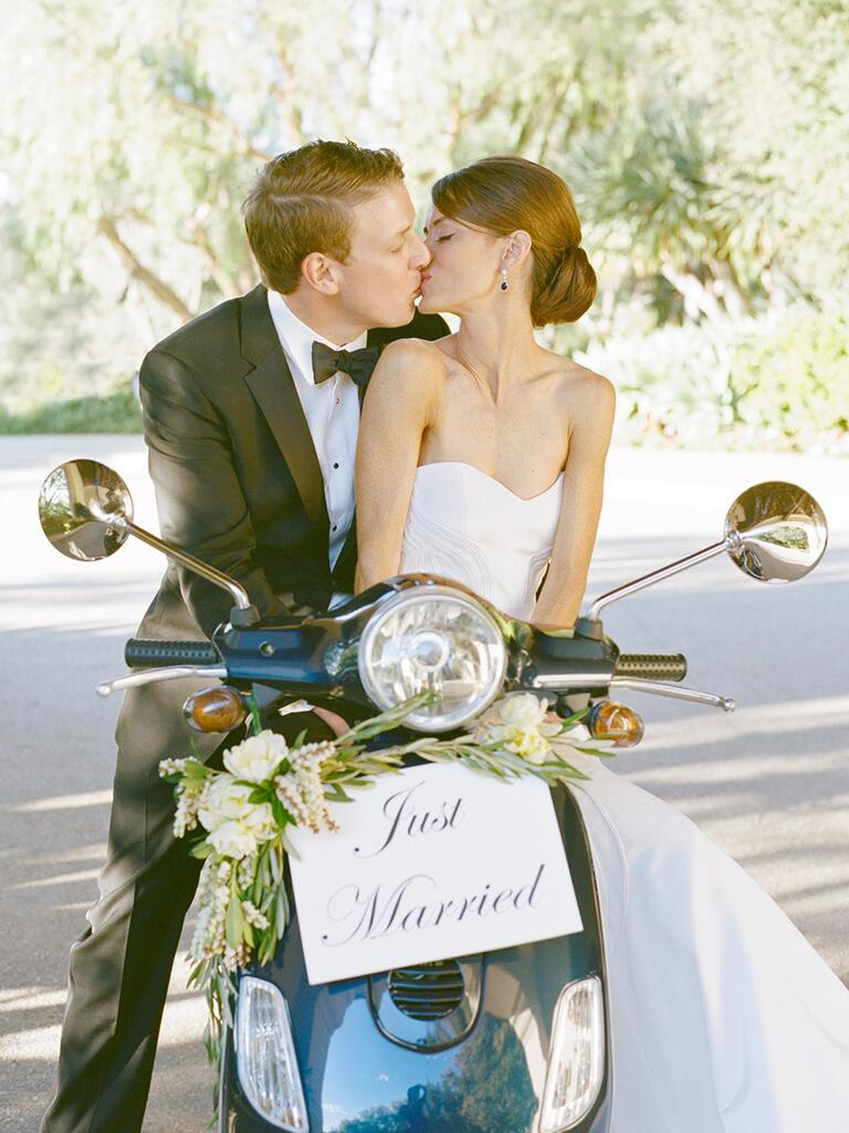 Couple on a vespa