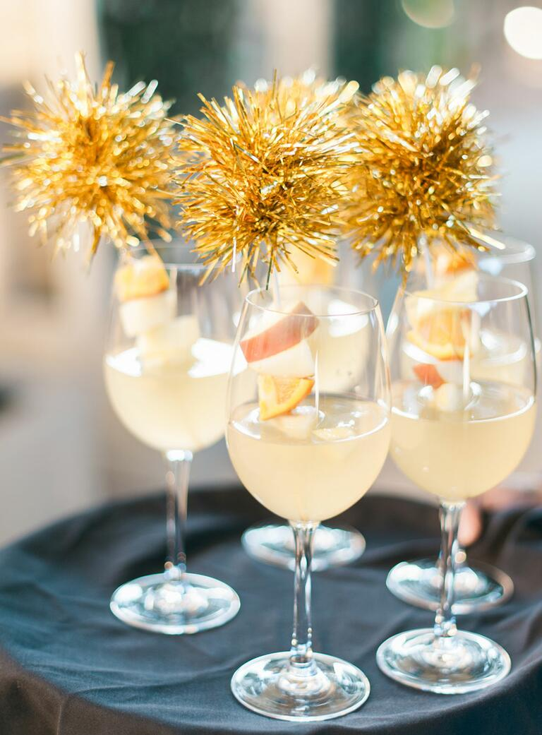 Signature white angria wedding cocktails
