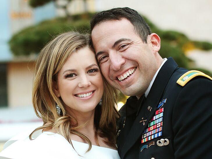 Brianna Keilar with her present husband Fernando Lujan