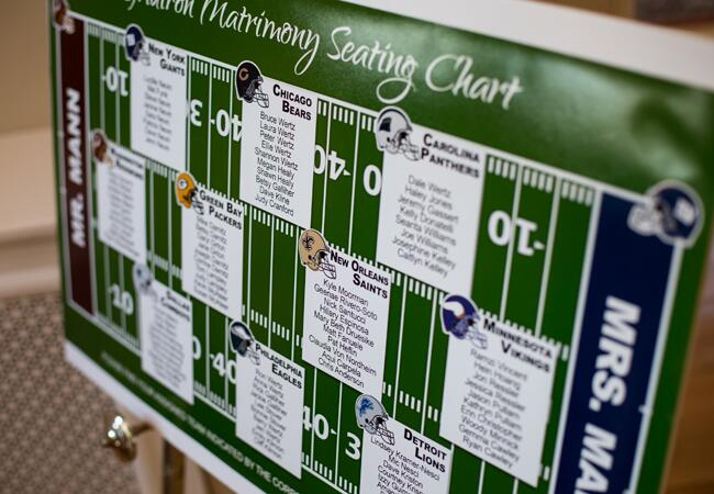 Football-Inspired Seating Chart |<img class=