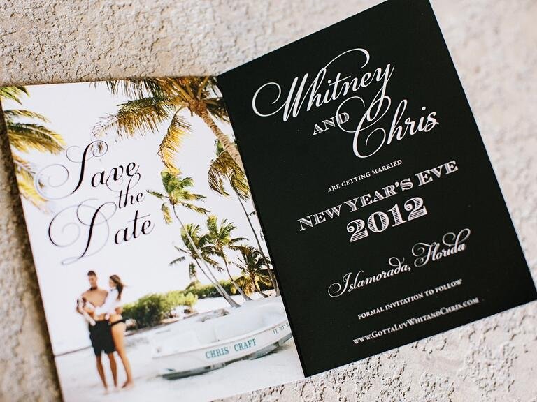 Formal destination wedding save-the-date