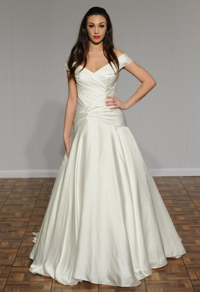 Augusta Jones Fall 2014 wedding dress |Kurt Wilberding | The Knot blog