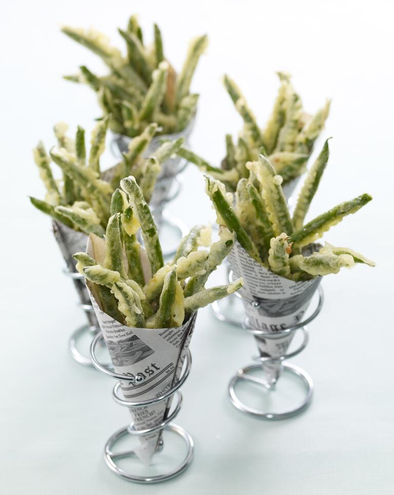 Fried green beans wedding hors d'oeuvres