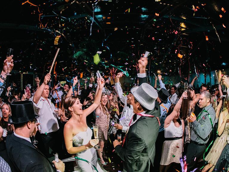 New Year Wedding Confetti Countdown