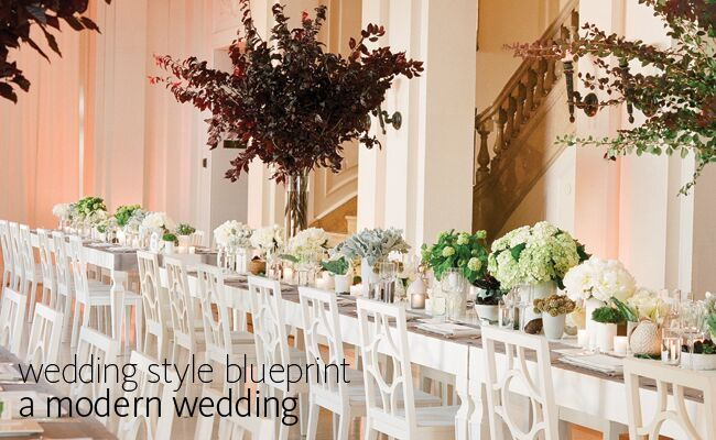 Fresh modern wedding ideas for the contemporary couple modern wedding style blueprint blogeknot malvernweather Image collections