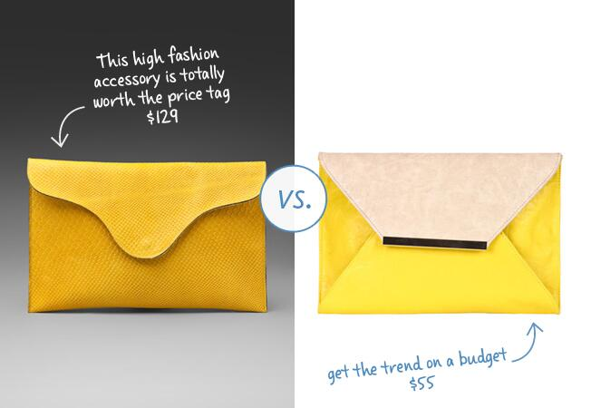 A Retro Yellow Envelope Clutch