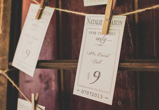 Oscar-inspired wedding ideas: Teale Photography / TheKnot.com