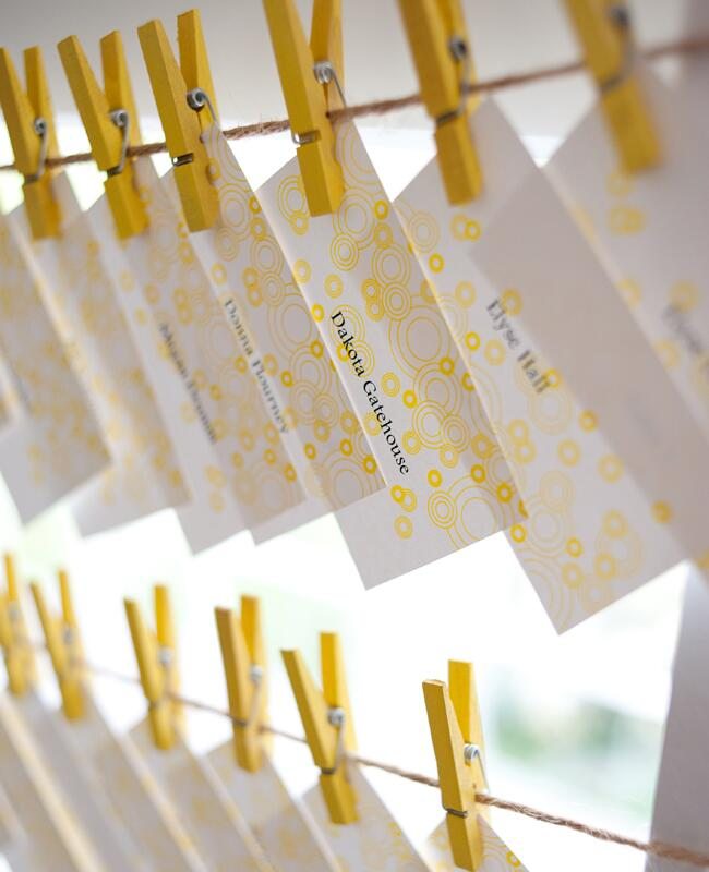 DIY clothespin wedding ideas: Jessica Maida Photography / TheKnot.com