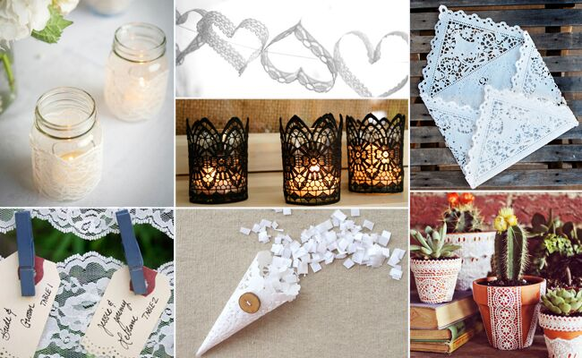 Lace Wedding Diy Projects Featured The Knot Blog