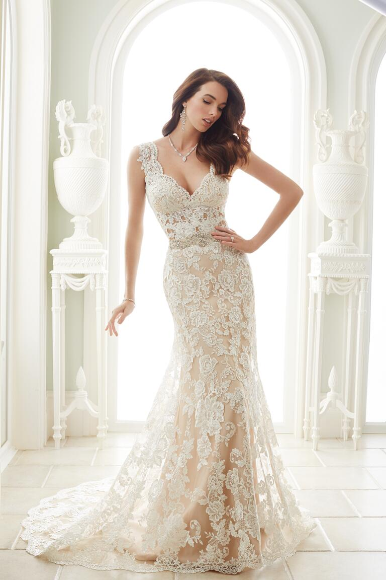 Sophia tolli spring 2017 collection bridal fashion week for Wedding dresses in lace