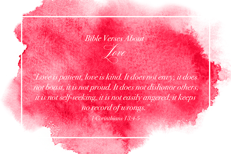 Bible verses about love image