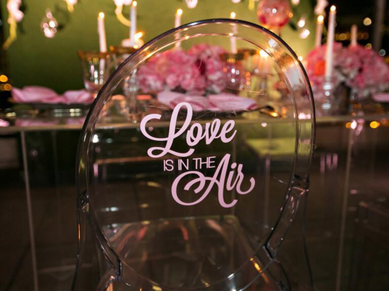 Detailed wedding chair