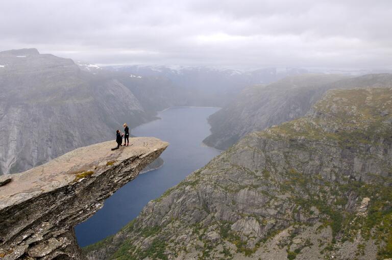 Kourtney and Connor engagement photo Odda, Norway