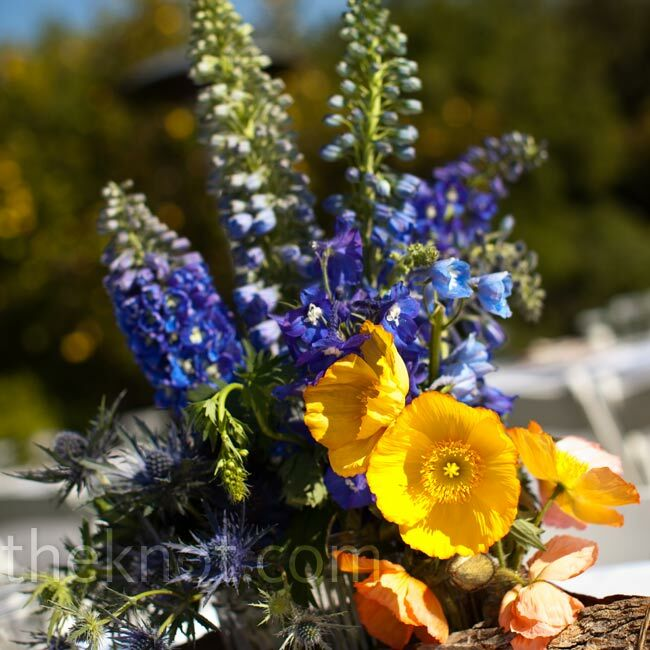 blue and yellow centerpieces blue and yellow table centerpieces Blue and Yellow Wedding Centerpieces