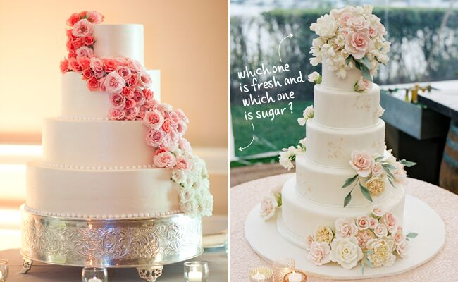 Fresh or sugar wedding cake flower quiz see the photos whether theyre fresh or sugar flowers are a classic way to embellish your wedding cake but sometimes its hard to tell the difference between the two mightylinksfo