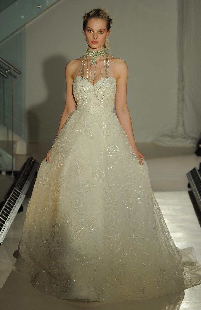 Lazaro spring 2017 collection bridal fashion week photos for Top designer wedding dresses 2017