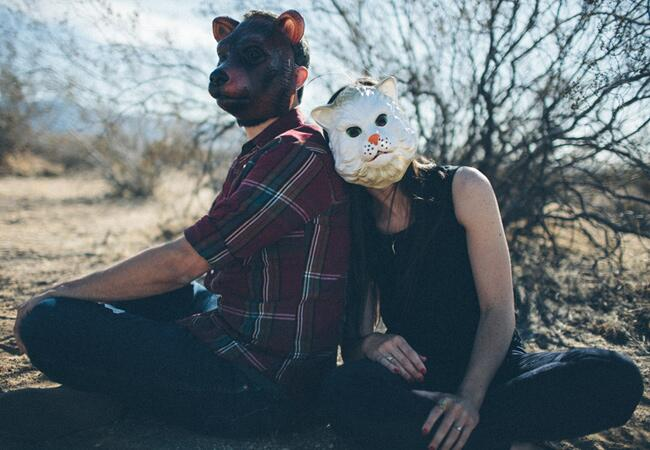 Animal Mask Engagement Photo Props