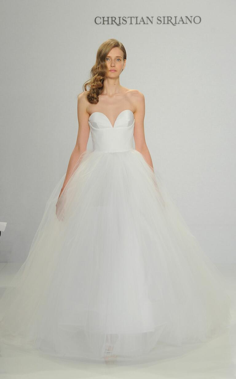 Christian Siriano Spring 2017 strapless tulle ball gown wedding dress