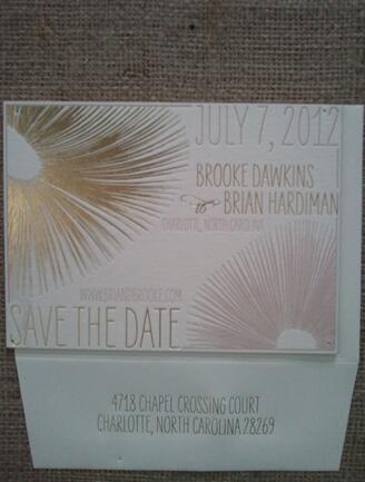 Gold Foil Invite