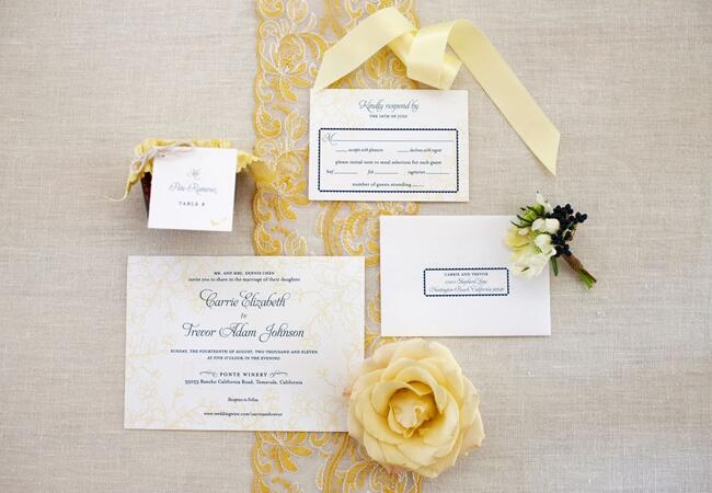 Invitations // John & Joseph Photography // Planner: Details Details // Location: Ponte Winery