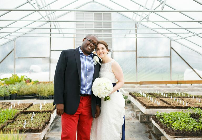 Red, white and blue wedding | Maypole Studios | blog.TheKnot.com