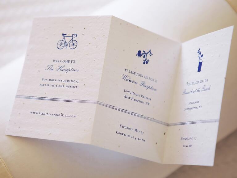 Replantable wedding weekend programs