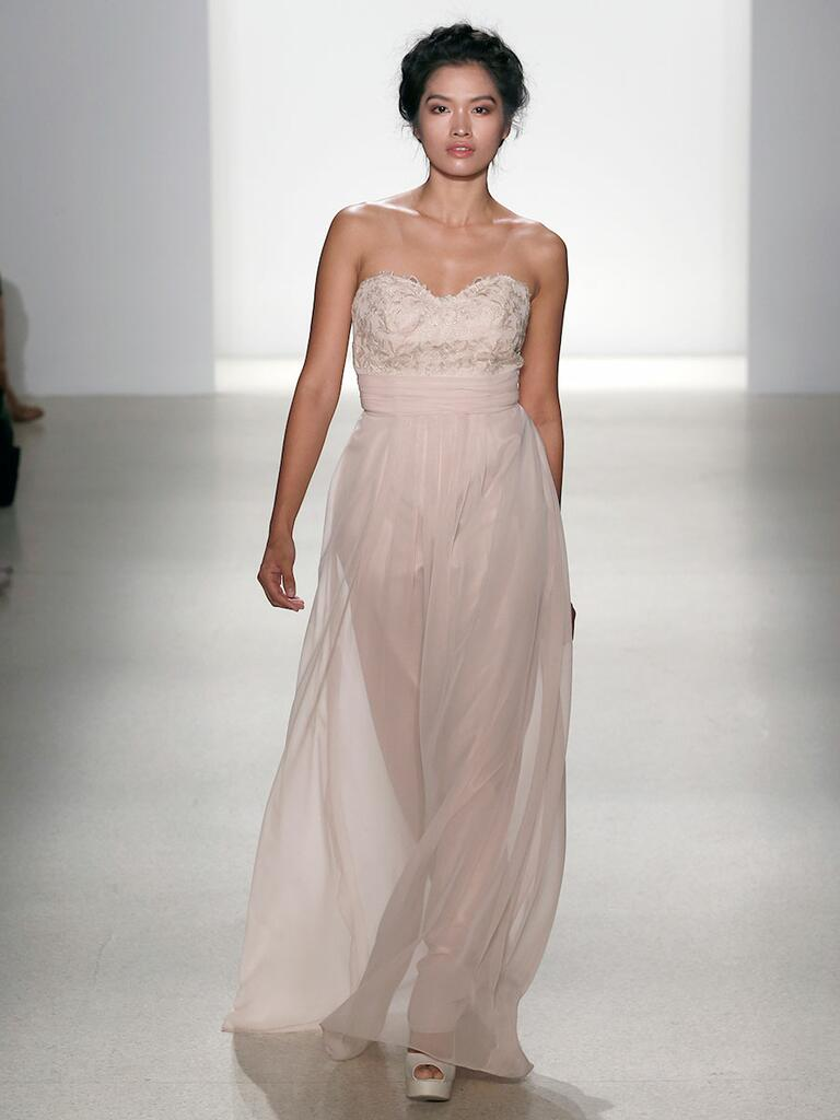 Kelly Faetanini Spring 2018 lace bodice chiffon gown