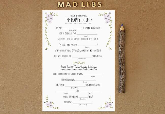 Rustic Mad Libs
