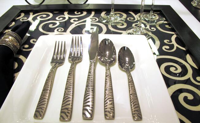 Oneida animal print flatware
