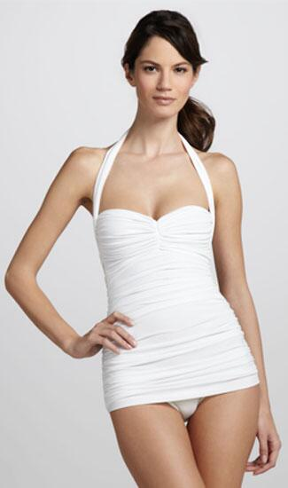 Retro and Ruched One-Piece