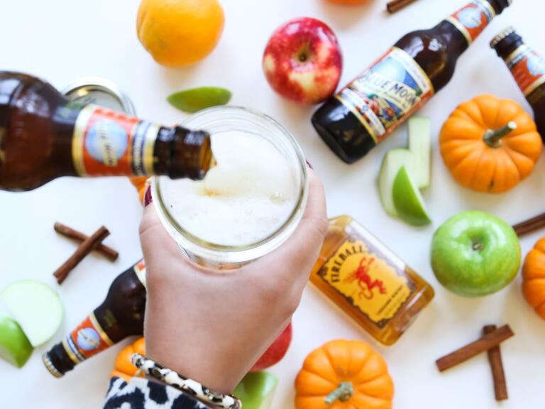 Pumpkin spice beer cocktail