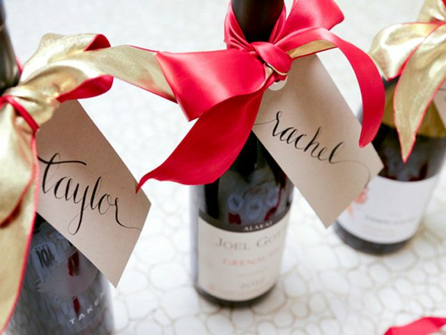 Personalize Wine Bottles For Hostess Gifts