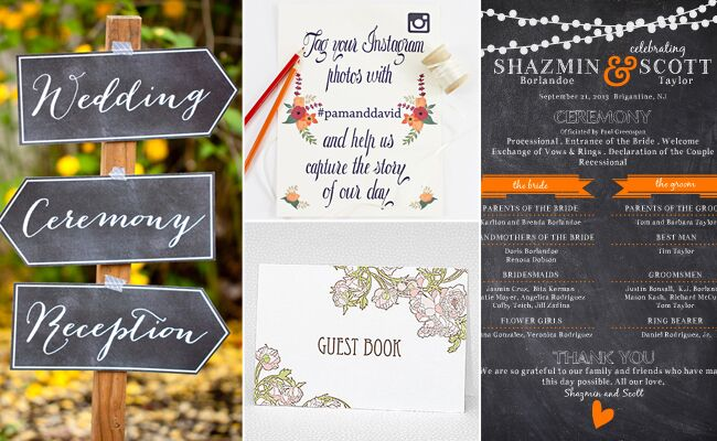DIY Wedding Signs Etsy The Munch TheKnot